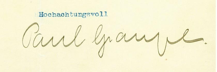 Paul Graupe (Autograph)