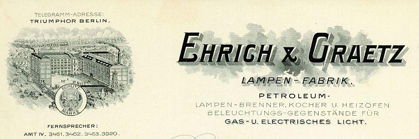 Briefkopf Ehrich & Graetz
