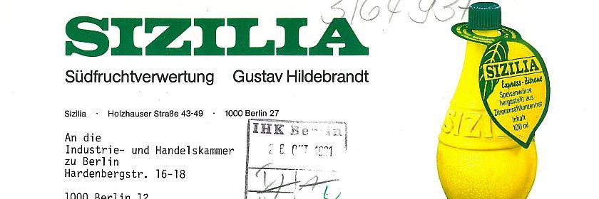 Schon auf dem Briefkopf von 1981 ist das Markenzeichen der Firma ein absoluter Blickfang (BBWA, K 1/1/64937)