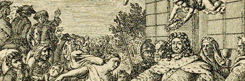 Der Große Kurfürst empfängt die Refugierten (aus Der Bär 1886)