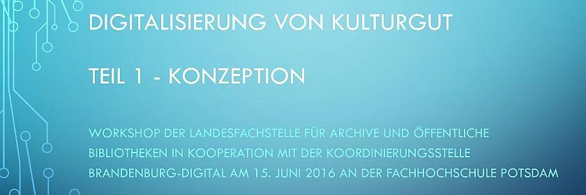"""Fortbildung """"Digitalisierungsprojekte"""""""