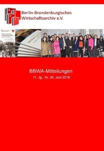 BBWA-Mitteilungen Nr. 20