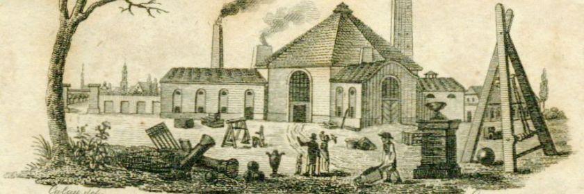Vor 210 Jahren eingerichtet: die Königlich Preußische Eisengießerei vor dem Oranienburger Tor (1804).