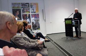 Dr. Kurt Winkler bei seiner Begrüßung zur 13. Potsdamer Geschichtsbörse (Foto: BBWA)