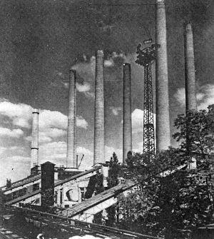 Kraftwerk der Braunkohlenwerke Finkenheerd vor 1959 (BBWA U 2/3/75)