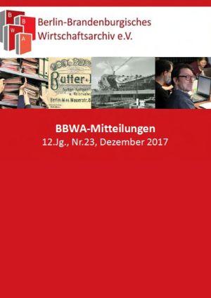 Titel der Ausgabe Nr. 23 der BBWA-Mitteilungen