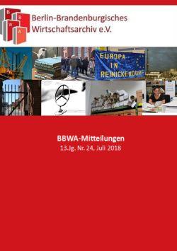 Titel der BBWA-Mitteilungen 13 (2018), heft 1